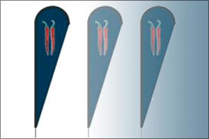 Teardrop Beachflag Gestaltungsraster