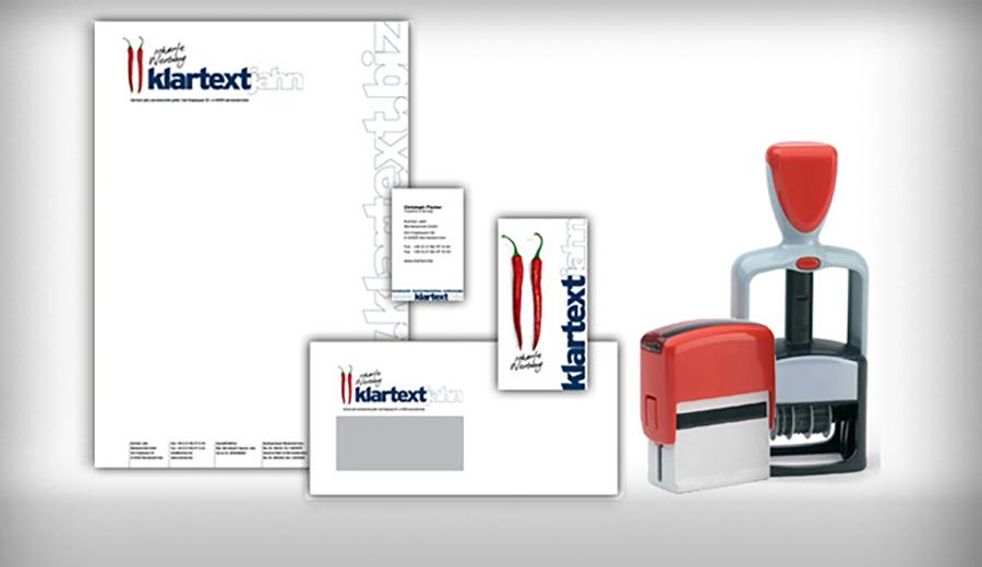 Drucksachen: Briefpapier, Briefumschläge, Visitenkarten, Stempel - alles fürs Büro
